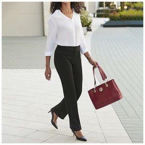 Gray Dress Pants Liz Claiborne Straight Leg 12